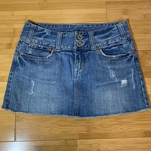 American Eagle Cutoff Denim Mini Skirt Sz 0